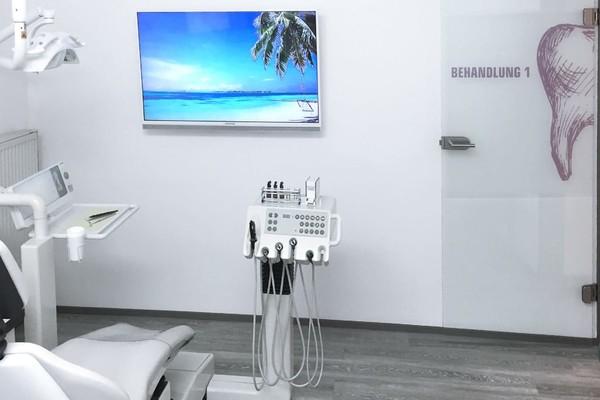 Behandlungszimmer in der Praxis Zahnarzt Ruthenberg